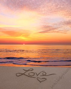 LOVE at SUNRISE Sand Writing by BeachBabyKisses on Etsy
