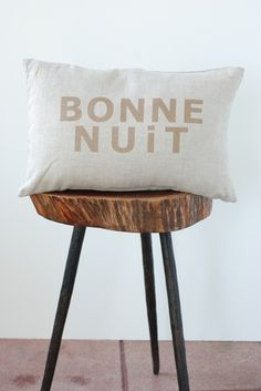 Atsuyo et Akiko :: Bonne Nuit Pillow, Coconut/Gold - ATSU-11CL03-CG :: Lake Boutique #NEXTgiggleNURSERY