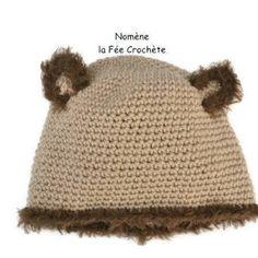 ... mes créas Un Grand Marché · Bonnet ours, pour enfant, fille ou garçon,  effet fourrure, fait main au 6daf50c1f0c