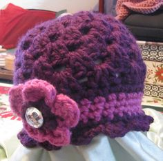 Cloche hat.  Pattern by the lovely crow.
