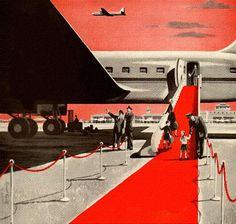 飛行機に乗るのがこれくらいのステータスだった時代。>Red Carpet Arrival
