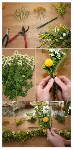instructions for making the garland