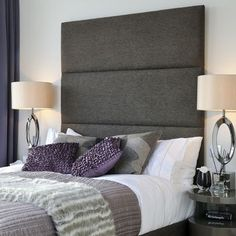 Purple Headboard Design Ideas, Pictures, Remodel, and Decor
