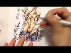 Copic Tutorial - Blonde (Sandy) Hair