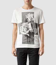 Mens Rose Band Crew T-shirt (Chalk) | ALLSAINTS.com