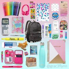 Cute school supplies, school supplies highschool, back to college supplies