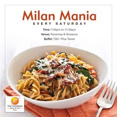 Savor the finest of #Italian delights with a pint of #beer with our exclusive #MilanMania Promotion, every #Saturday.