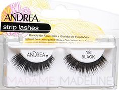 Andrea Strip Lash 18 Black #madamemadeline #andrea #andrealashes #andrea18