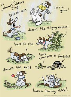 Simon's Cat - Simon's Cat Characters - Simon's Sister's Dog! wuuuuuuuuuuu