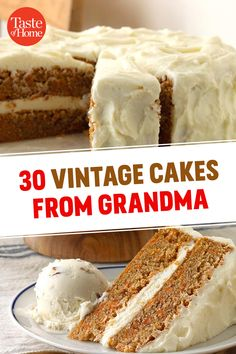 30 Vintage Cakes from Grandma Cupcake Recipes, Baking Recipes, Cupcake Cakes, Dessert Recipes, Cupcakes, Easy Desserts, Delicious Desserts, Cakes Plus, Vintage Baking