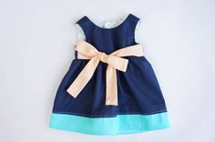 American Girl Doll Clothes Color block Dress AG Doll by allysews