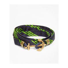 Brooks Brothers Wrap Bracelet by Kiel James Patrick (3,745 INR) ❤ liked on Polyvore featuring men's fashion, men's jewelry and men's bracelets