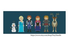 Frozen Characters - Instant Download PDF Pattern by TinyNeedle