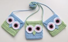 PDF PATTERN owl flap girls bag, crochet, strap, cute, eyes. €3.50, via Etsy.