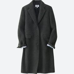 A Chesterfield coat with a premium feel and stylish impact great for trendy looks.- Part of our collaboration collection with world-famous model and designer Ines de la Fressange. Uniqlo, Chesterfield Coat, Famous Models, Parisian Chic, Duster Coat, Suit Jacket, Clothes For Women, Stylish, My Style