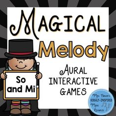 "Do you need a fun way to aurally practice and assess the melodic pitches so and mi? In ""Magical Melody,"" students must find the rabbit in the hat by listening to and identifying a four-beat melodic pattern.Included in this set:1. Directions for use2. So and Mi Solfa Notation Magical Melody Interactive PDF---Includes 10 multiple-choice questions using stick notation with solfge---PDF file has active hyperlinks for correct and incorrect answers---Sound files are embedded within the PDF3."