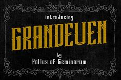 awesome Grandeven Typeface font CreativeWork247 - Fonts, Graphics, Themes, Templates...