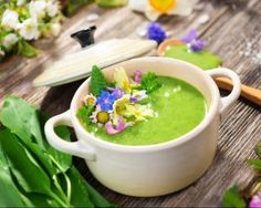 Soupe de courgettes et poireaux en cocotte