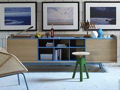 EDGE Wooden sideboard by Miniforms | design : Gaia Giotti, Giona Scarselli