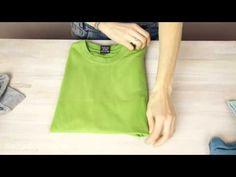 How to fold a T-shirt like a Pro - 3 ways - YouTube