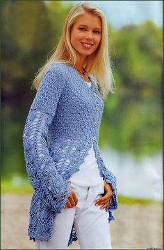 Irish crochet &: CROCHET SUMMER COAT ... ЛЕТНЕЕ ПАЛЬТО КРЮЧКОМ