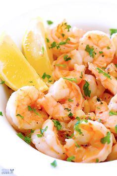 This 15-Minute Skinny Shrimp Scampi is full of amazing lemon-garlic flavor like traditional shrimp scampi, but made much lighter.