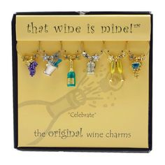 Wine Charms -  Celebrate  ...   Special occasion not required. Celebrate every day and everyone. Share wine and don't forget the charms. Colorful, fun, functional.