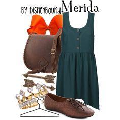 Merida, created by lalakay on Polyvore #disney