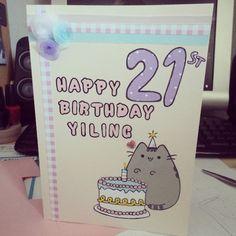 My handmade pusheen card Pusheen Birthday, 21st Birthday Cards, Diy Crafts, Instagram Posts, Cute, Handmade, Fandom, Ideas For Birthday Cards, Hand Made