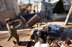 Marines help pick up after Sandy (U.S. Marine Corps photo by Cpl. Bryan Nygaard)