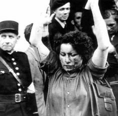 French police and members of the resistance march male and female collaborators to a bus that will take them to jail. The woman at the front of the line has clearly been beaten. Liberation Of Paris, Hair Shears, Vietnam War Photos, Crime, Holocaust Memorial, Women In History, World War Ii, Wwii, Police