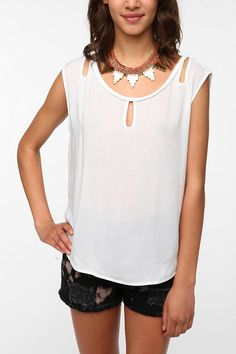 Ecote Braided Trim Sleeveless Top  #UrbanOutfitters
