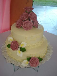 Summery yellow themed cakes pinterest themed cakes white cake with purple flowers mightylinksfo