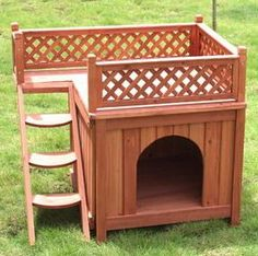 Wood Dog House Plans | How To build a Easy DIY Woodworking Projects | Wood Working Plans      -------   this would also be great for the neighborhood stray cats