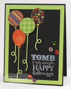 Happy Halloween Card by Jeanne Streiff #Cardmaking, #Halloween, #CuttingPlates