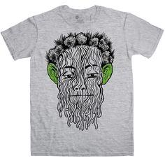 Yellow King Carcosa T Shirt - Green Eared Spaghetti Monster - Sport Grey / Medium