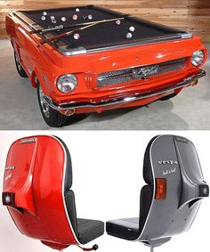 Converted Car Furniture: MUSTANG POOL TABLE??!!!!! YOU'RE KILLING ME HERE!!