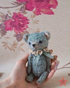 Artist teddy bear OOAK 6 inch tall handmade от mishafromrussia