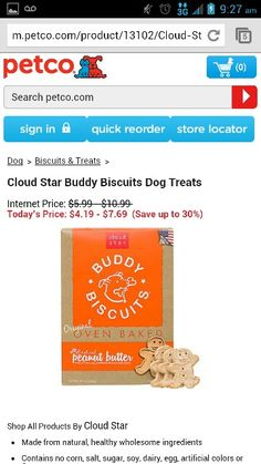 Cloud star Buddy biscuits Dog Treats