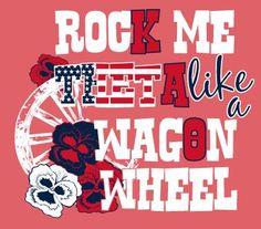 #rock me #theta like a #wagon #wheel!