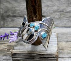 One of a kind sterling silver cuff with an amazing center cabochon.You will not be disappointed by this piece of wrist art! Silverware Jewelry, Jewelry Bracelets, Harry Potter Wand, Sterling Silver Cuff, Anklets, Handcrafted Jewelry, Silver Jewelry, Disappointed, Jewelry Making