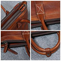 Handmade Leather Briefcase, High Quality Business Bag, Leather Laptop Bag GLT003