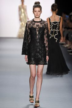 Jenny Packham Spring 2017 Ready-to-Wear: Lace number! I like the all-over lace.