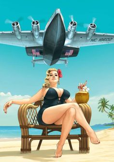 Above The Best, Yall. Pin Up Girl Vintage, Vintage Art, Dibujos Pin Up, Pin Up Posters, Airplane Art, Femmes Les Plus Sexy, Sexy Cartoons, Nose Art, Aviation Art