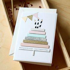 Creative Birthday Cards, Cute Birthday Cards, Homemade Birthday Cards, Bday Cards, Homemade Cards, Watercolor Birthday Cards, Birthday Card Drawing, Tarjetas Diy, Paper Cards