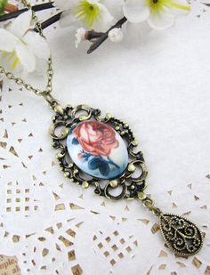 Rose Printed Pendant