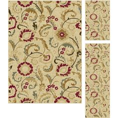 Lagoon Ivory Transitional Area Rug Set - Overstock Shopping - Great Deals on Alise Rugs 5x8 - 6x9 Rugs