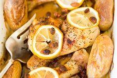 Lemon, Chicken Lemons, Slice, Dish