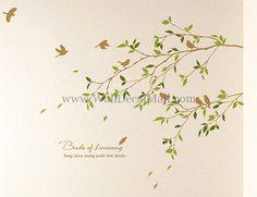 Birds Of Lovesong Tree Wall Decals – WallDecalMall.com
