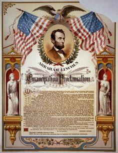 Emancipation Proclamation To end slavery